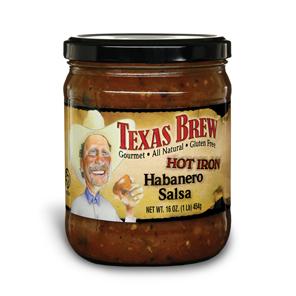 Texas Brew Hot Iron Habanero - Texas Brew Salsa