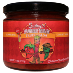 Swingin' Strawberry-Rhubarb Fruit Salsa - Chehalem Ridge Brands